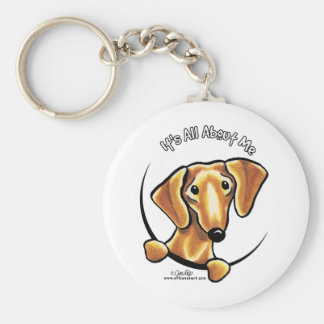 Smooth Red Dachshund Its All About Me Key Ring