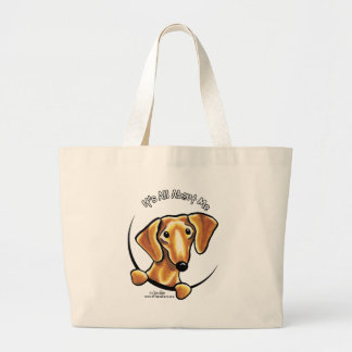 Smooth Red Dachshund Its All About Me Large Tote Bag