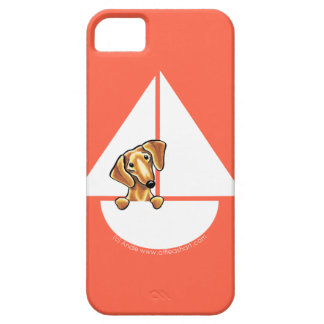 Smooth Red Dachshund Sailboat Red iPhone 5 Covers