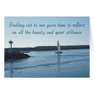 Smooth Sailing Personalized Message Card