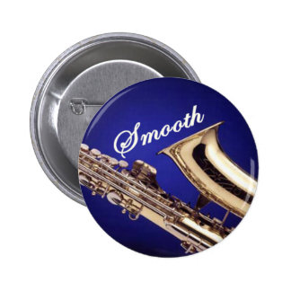 Smooth Saxophone 6 Cm Round Badge