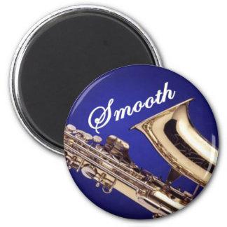 Smooth Saxophone 6 Cm Round Magnet