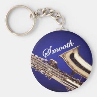 Smooth Saxophone Basic Round Button Key Ring
