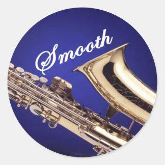 Smooth Saxophone Classic Round Sticker