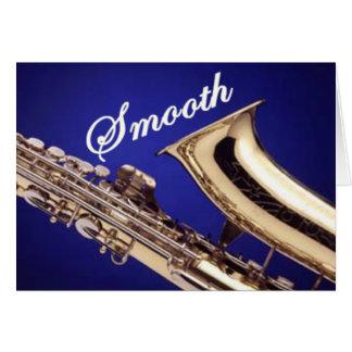 Smooth Saxophone Greeting Card