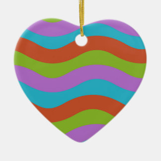 Smooth Waves Stripes Ornament