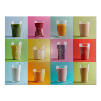 Smoothie abstract Poster