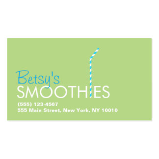 Smoothie Bar Straw Logo Pack Of Standard Business Cards