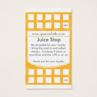 Smoothie & Juice Bar Business Card Loyalty Card