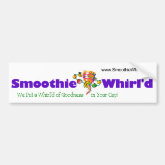 Smoothie Whirl'd Bumper Sticker Bumper Sticker