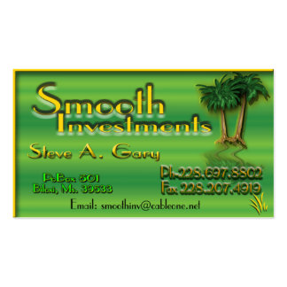 SmoothInvestments Card Business Card Templates