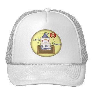 Smore 5th Birthday Gifts Mesh Hats