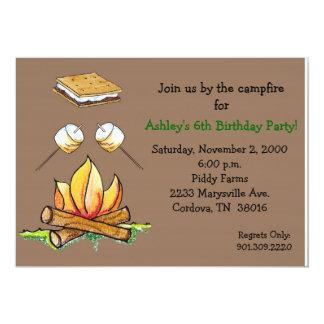 Smore Campfire Invitation