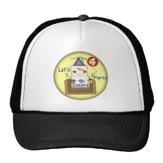 Smores 4th Birthday Gifts Cap
