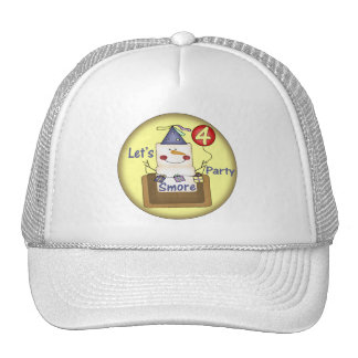 Smores 4th Birthday Gifts Trucker Hats