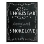 S'Mores Bar Sign Wedding Decor Poster