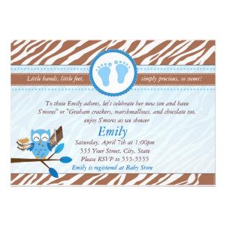 Smores Marshmallows Baby Shower Invitation