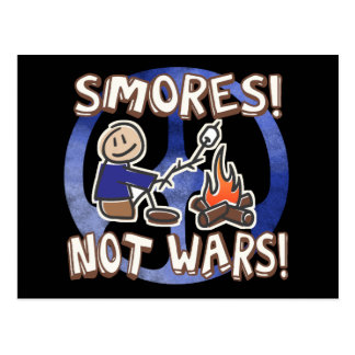 S'mores Not Wars Postcard
