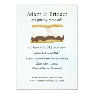 S'mores Save the Date 13 Cm X 18 Cm Invitation Card