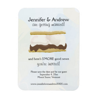 S'mores Save the Date Rectangular Photo Magnet