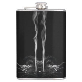 SMOULDER Noir Dragon 'Ignition Fuel' Custom Name Hip Flask