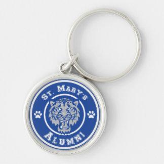 SMS Alumni Keychain Silver-Colored Round Keychain