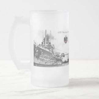 SMS Kaiser 16 Oz Frosted Glass Beer Mug