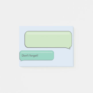 """SMS Text Message """"Don't Forget"""", Custom Sticky Post-it Notes"""
