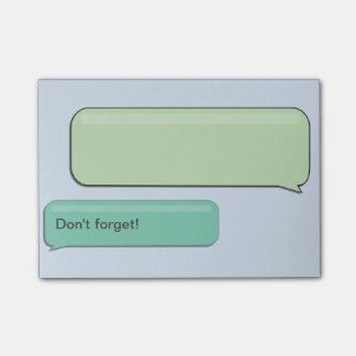 "SMS Text Message ""Don't Forget"", Custom Sticky Post-it Notes"