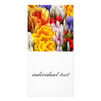 smudge flowers (I) Photo Card