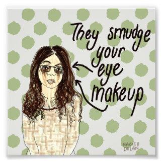 Smudged makeup art photo