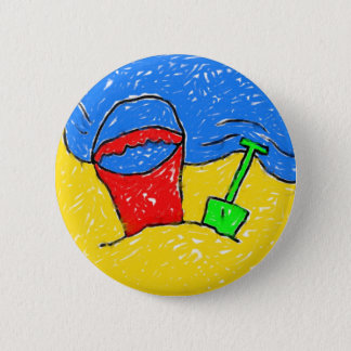 Smudgy Beach 6 Cm Round Badge