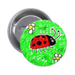 Smudgy Ladybug Pins