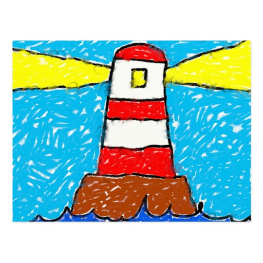 Smudgy Lighthouse Postcard