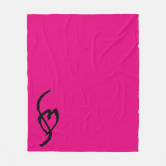 Smuffin Smut Mark Fleece Blanket Hot HOT Pink