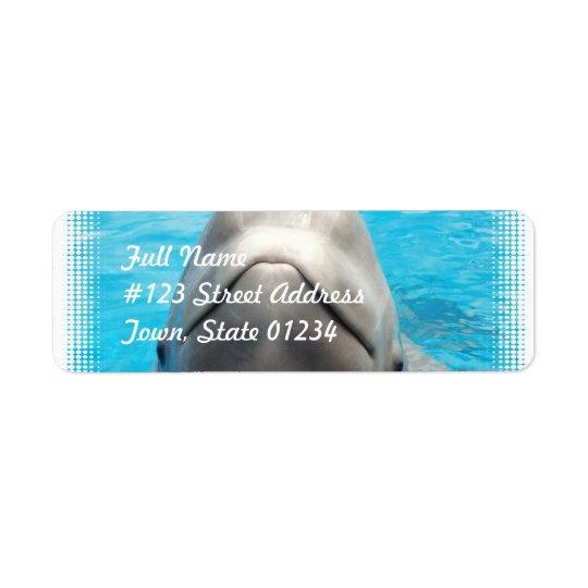 Smug Beluga Whale Mailing Labels