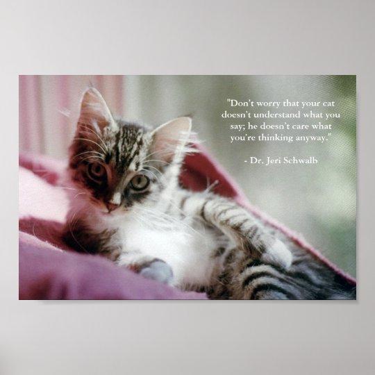 Smug Kitten Poster
