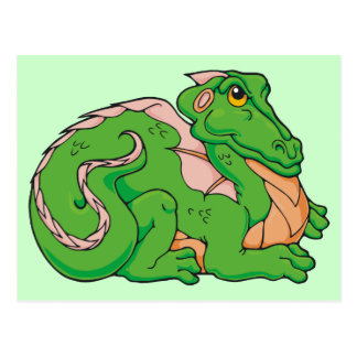 Smug little dragon post card