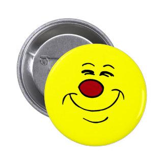 Smug Smiley Face Grumpey 6 Cm Round Badge