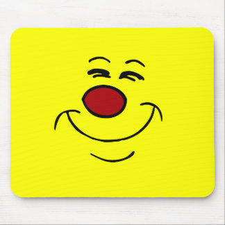 Smug Smiley Face Grumpey Mouse Pad