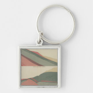 Smuggler Mountain Sheet 3 Silver-Colored Square Key Ring