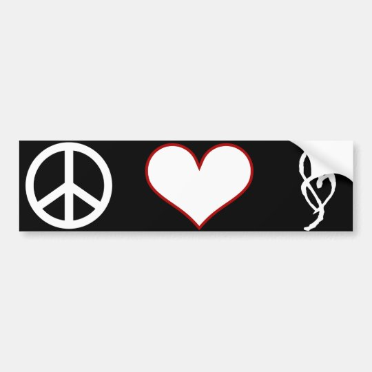 Smut Mark Peace Love Bumper Sticker