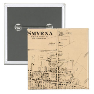 Smyrna 15 Cm Square Badge