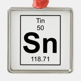 Sn - Tin Christmas Ornament