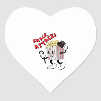 Snack Attack Heart Sticker