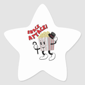 Snack Attack Star Sticker