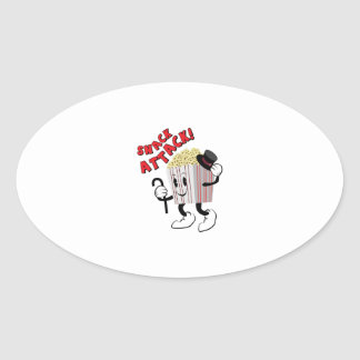 Snack Attack Oval Sticker