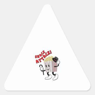 Snack Attack Triangle Sticker