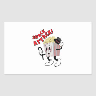 Snack Attack Rectangular Sticker