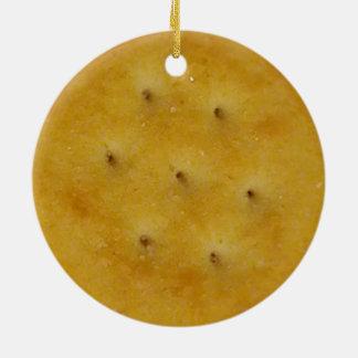 Snack Cracker Round Ceramic Decoration
